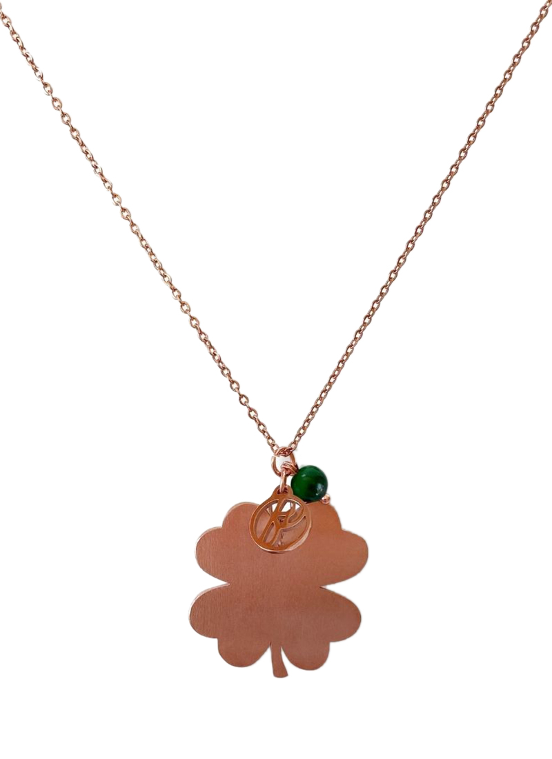 Fabuleux Vous Lucky Large Rose Gold Necklace Buy Online At Mode Co Nz