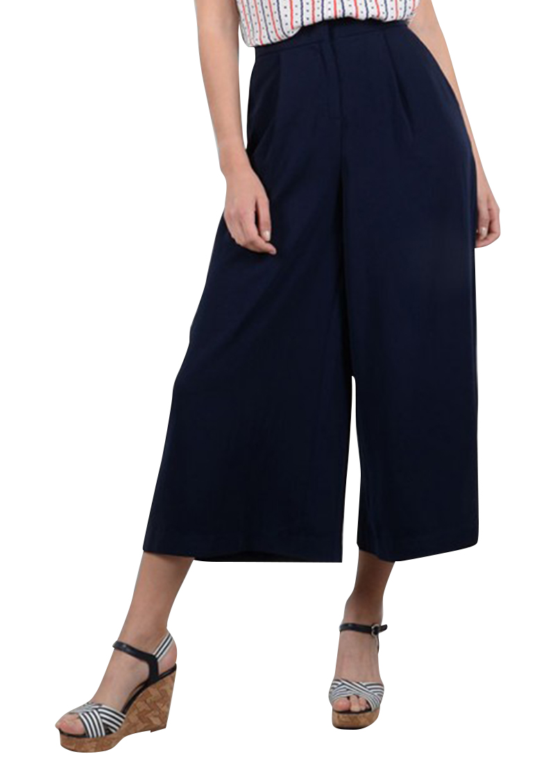 9ec1a071510 Molly Bracken Navy Wide Leg Pant | Buy Online at Mode.co.nz