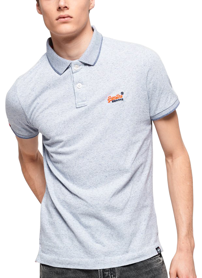 superdry orange polo shirt